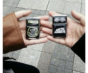 nirvana, arctic monkeys, and lighter image