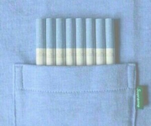 blue, cigarette, and pastel image
