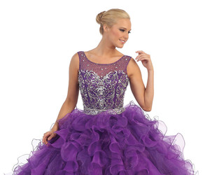 ballgown, purple, and quinceanera image