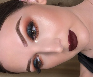 makeup, smokey, and cute image