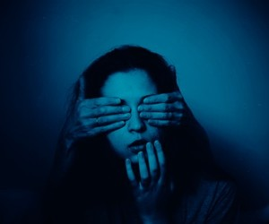 grunge, blue, and hands image