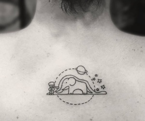 tattoo, book, and elephant image