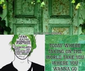 green, Lyrics, and music image