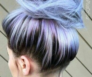 hair, purple, and colored hair image