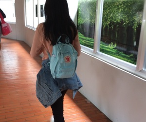 aesthetic, baby, and backpack image