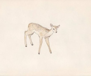 painting, art, and deer image