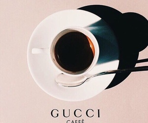 gucci, coffee, and pink image