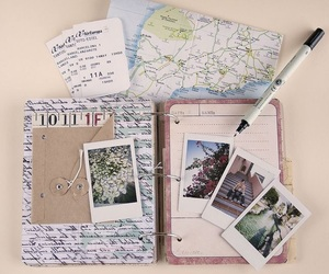 travel, map, and book image