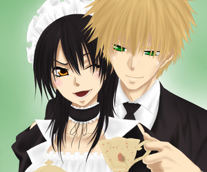 kawaii, anime couple, and kaichou wa maid-sama image