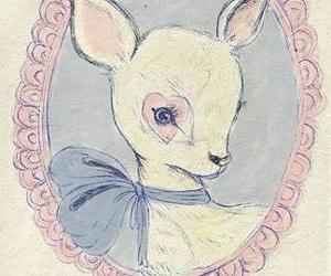 deer, bambi, and pink image