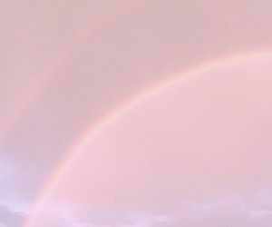 pink, rainbows, and sky image
