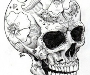 black, drawing, and dead image