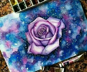 painting and rose image