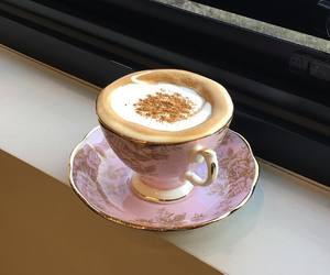 coffee, pink, and vintage image