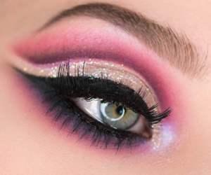 beauty, eye, and girl image