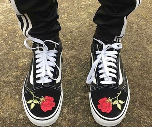 vans, rose, and shoes image