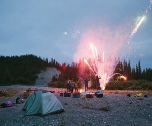 fireworks, nature, and friends image