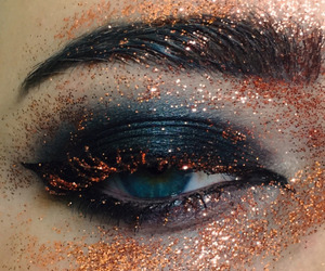 eyes, glitter, and makeup image
