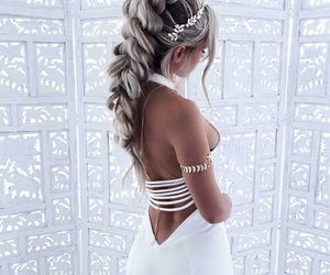 hair, white, and beauty image