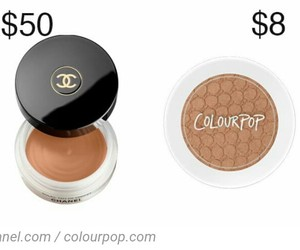 chanel, dupe, and colourpop image