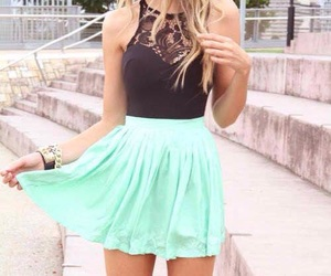 dress, outfit, and turquoise image