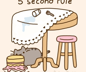 cat, pusheen, and cake image