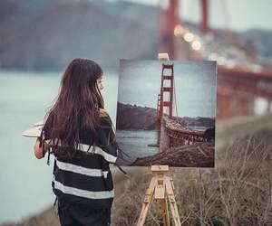 artist, bridge, and girl image