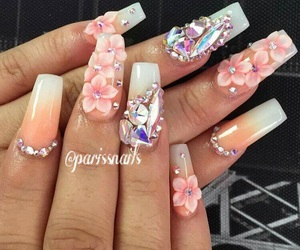 3d, acryl, and long nails image