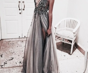 dress, beauty, and grey image