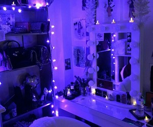 purple, light, and room image