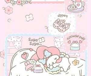 my melody, pink, and wallpaper image