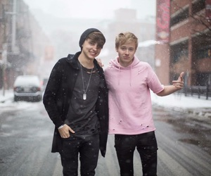 sam and colby, sam golbach, and colby brock image