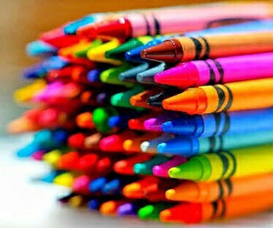crayons, colors, and colorful image