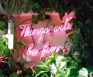 quote, pink, and neon image