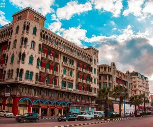 building, egypt, and sky image