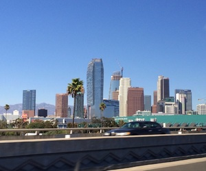 blue sky, california, and downtown image
