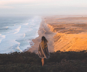 girl, travel, and sea image