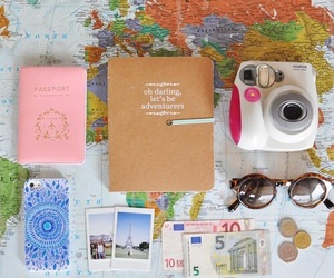 journal, travel, and adventure image