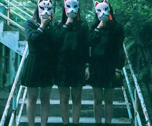 mask, girls, and japan image