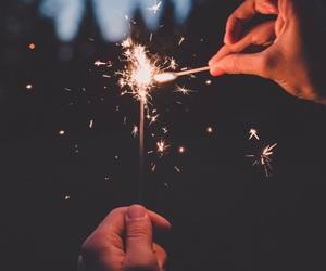 light, sparkler, and life image