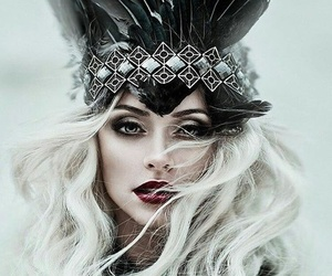 Queen, feather, and makeup image