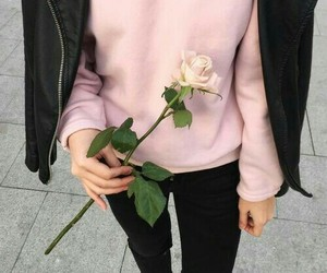 casual, pink, and style image