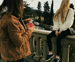besties, casual, and style image