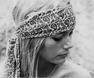 girl, hippie, and blonde image