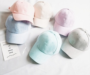 fashion, pastel, and cap image