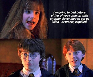 funny, harry potter, and hermione granger image