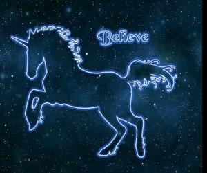 neon light and unicorn image