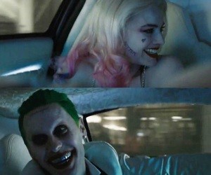 joker, harley quinn, and jared leto image