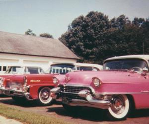car, pink, and red image