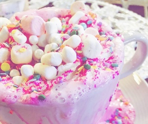 coffe, food, and pink image